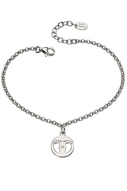 D For Diamond Footprint Bracelet