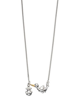 D For Diamond Stork Necklace