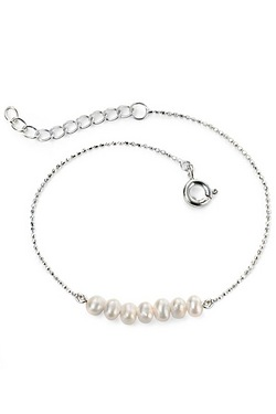 Elements Silver Freshwater Pearl Br...