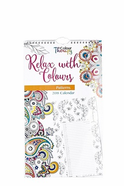 Relax With Colours Calendar 2018