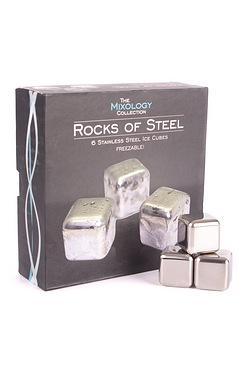 Mixology Steel Ice Cubes - Pack of 6