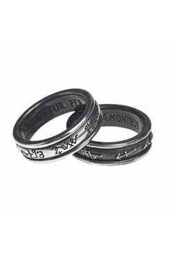 Demon Black And Angel White Ring
