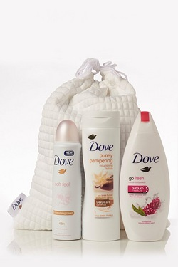 Dove Love Collection Trio With Spa Bag