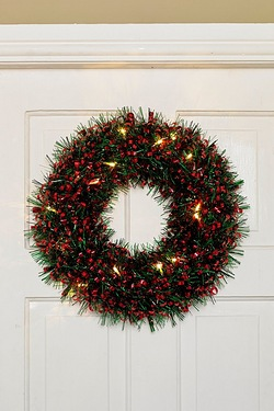 LED Tinsel Wreath