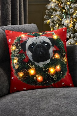 LED Cushion - Pug