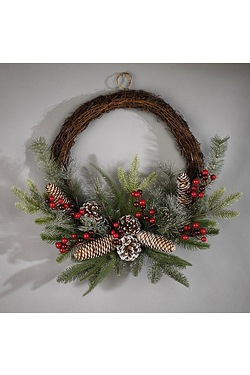 Natural Frosted Wreath