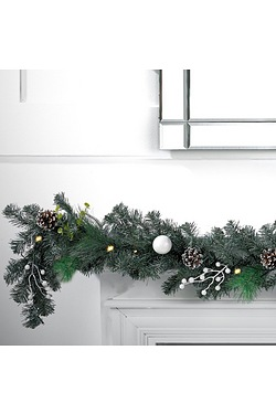 LED Light-Up Garland - Frosted