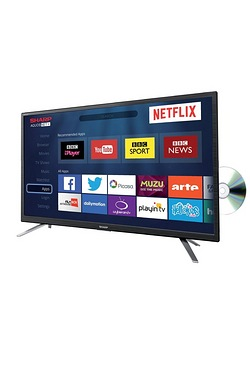 "Sharp 24"" Smart TV/DVD Combi"