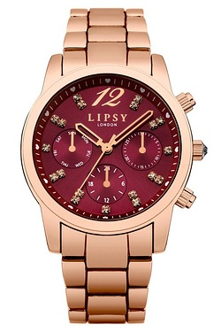 Lipsy Ladies Pale Rose Gold Watch