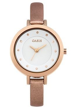 Oasis Ladies Rose Gold Watch
