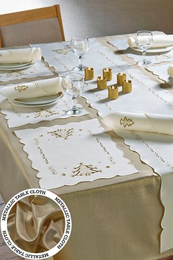 14-Piece Embroidered Table Set