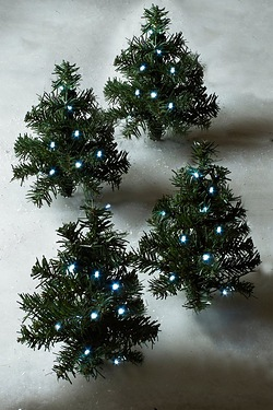 Set of 4 LED Path Tree Stakes