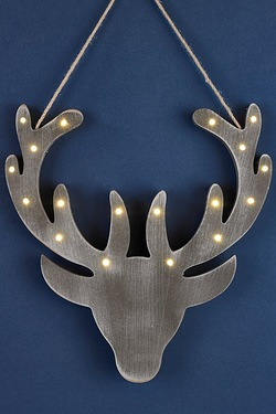 LED Wooden Stags Head