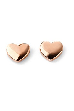 9ct Rose Gold Heart Stud Earring