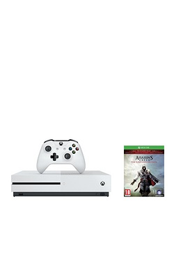 Xbox One S White 500GB Console + As...