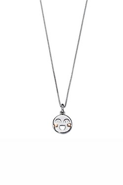 D For Diamond Smiley Emoji Pendant