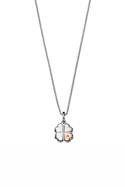 D For Diamond Clover Pendant