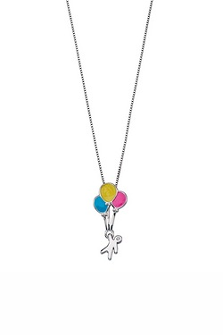 D For Diamond Balloons Pendant