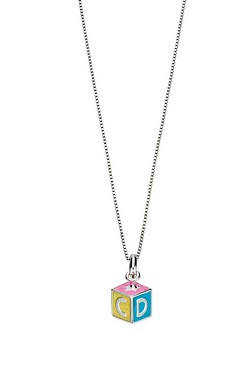 D For Diamond ABC Cube Pendant