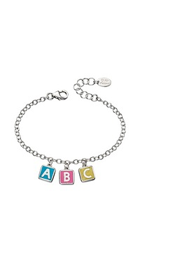 D For Diamond ABC Charm Bracelet