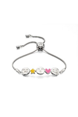 D For Diamond Emoji Toggle Bangle