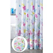 Butterfly Bright shower Curtain And...