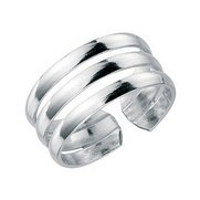 Sterling Silver Three Band Toe Ring