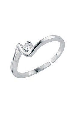 Sterling Silver Squiggle Toe Ring