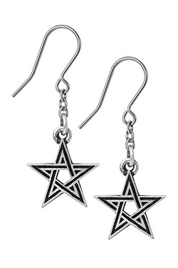 Black Star Earrings
