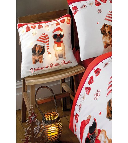 Image for I Believe In Santa Paws Light Up Cushion from ace