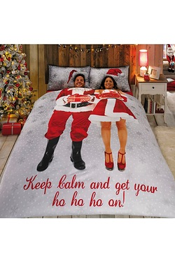 Mr and Mrs Santa Duvet Set