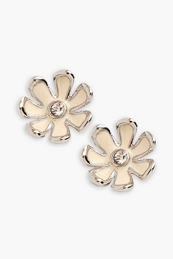 Fiorelli White Flower Stud Earrings