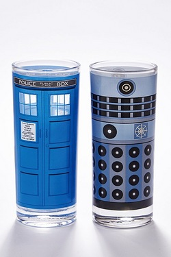 Set Of 2 Doctor Who Glasses
