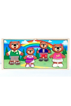 Mix and Match Wooden Family Puzzle