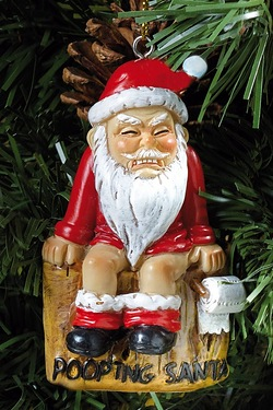 Christmas Decoration - Pooping Santa
