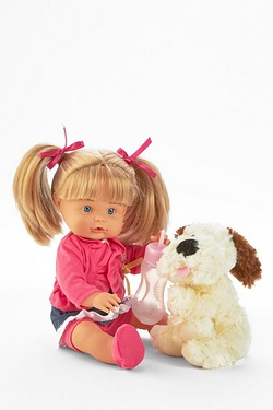 36cm Baby Nena Pipi Popo with Dog Set