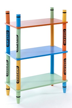 Wooden Crayon 3-Shelf Unit