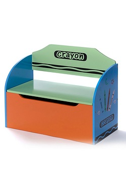 Wooden Crayon Toy Chest/Seat