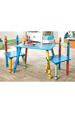Crayon Table & 2 Chairs