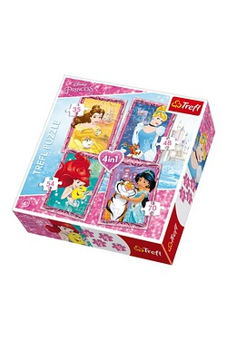 4 in 1 Puzzles - Disney Princess