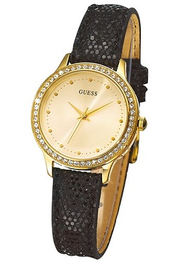 Ladies Guess Chelsea Black Watch