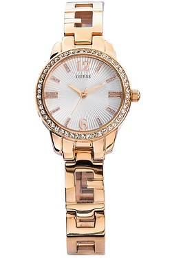 Ladies Guess Charming Rose Gold Watch