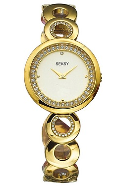 Ladies Seksy Gold Watch