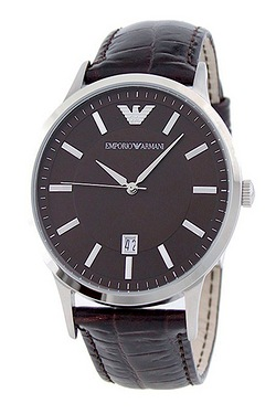 Mens Emporio Armani Brown Watch