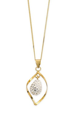 Sparkle With Love - 9ct Gold Crystal Fancy Drop Pendant