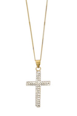 Sparkle With Love - 9ct Gold Crystal Cross