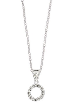 Sparkle With Love - Silver Crystal Circle Pendant