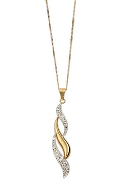 Sparkle With Love - 9ct Triple Flame Crystal Set Pendant