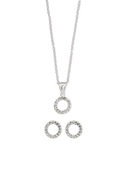 Sparkle With Love - Sterling Silver Crystal Circle Pendant Offer