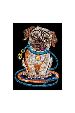 Sequin Art Pug